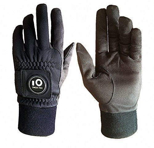 Finger Ten New Men Winter Golf Gloves with Ball Marker Grip Performance Value 1 Pair Cold Weather Touchscreen Windproof Size from Medium to XXL