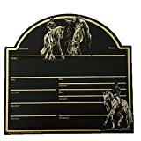 Designer Stallabstammungstafel, Stalltafel, Boxenschild, Pferdestalltafel Bötzel, Auswahl:Dressurreiter, Groesse:Stalltafel