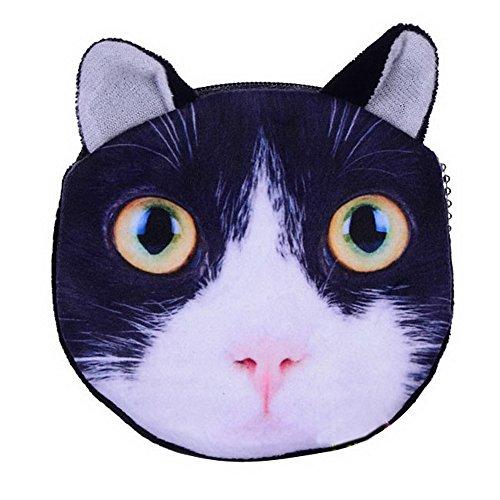 seguryy 1 Stück Cartoon Katze, 3D-Print, Taschen, Geldbeuteln &-Plüsch-Münzen Kinder Geschenk Tüte A1