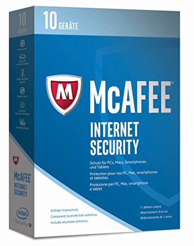 McAfee Internet Security 2017 | 10 Geräte | 1 Jahr | PC/Mac/Smartphone/Tablet | Download (Mcafee Antivirus-software)