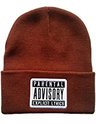 Adjustable Advisory Snapback Knit Cap for Unisex One Size – Gorro de lana para hombre
