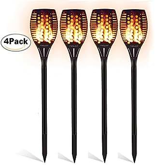 Fein Solar Garten Tiki Taschenlampe 96 Led Flackernder Pfad Tanzende Flammen Lichter Garten & Terrasse