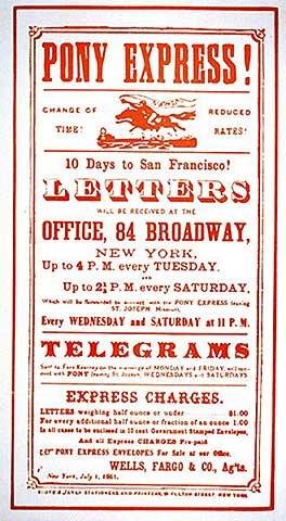 image-encadree-american-school-pony-express-poster-1861-impression-dart-decorative-en-cadre-de-haute