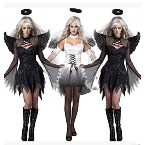 Nihiug Halloween Rolle Spielen Dämon Service 2 Nacht Engel Beladen Sexy Film Humor Teufel Retro Spiel (Engel Halloween Kostüme: Teufel Und)