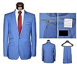 Lilis® Herren Blazer 2 Stück One Button Herren Anzug