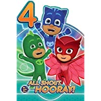 Official PJMasks Age 4 Birthday Card