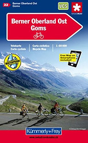 Berner Oberland Ost - Goms Cycle Map 2014