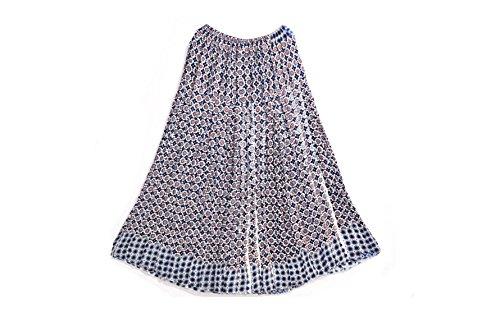 Crapgoos Long skirts for Women & Girls (Purple Bule)