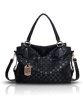 Tisdaini Neue Damen Handtasche Retro-Normallack Mode Muster weichen Tasche Schulter Messenger Bag Handtaschen