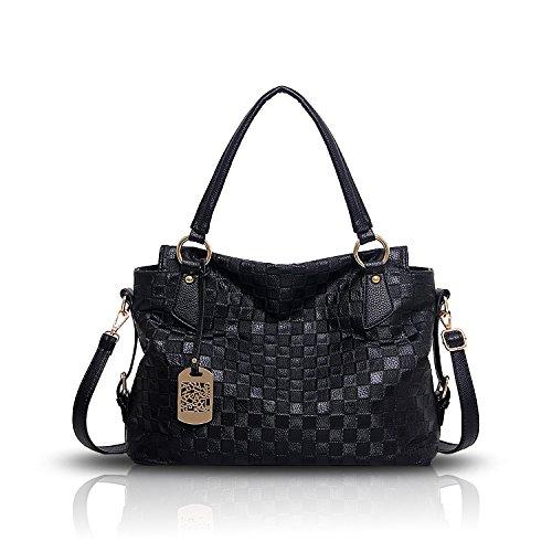 Tisdaini Neue Damen Handtasche Retro-Normallack Mode Muster weichen Tasche Schulter Messenger Bag Handtaschen (Tasche Schulter)