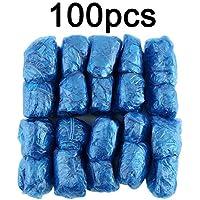 Amandai 100 Unids/Set Desechables Cubiertas De Zapatos De Plástico Habitaciones Aire Libre Lluvia Impermeable