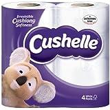 Cushelle Confort papier toilette Blanc Lot de 4Etui de 4