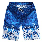 Sporthose Herren Schwimmen Wasserhosen Badehose Strandshorts Jogginghose Sweatshorts Bermuda Shorts Quick Dry Beach Hosen zum Surfen Laufen,ABsoar (3XL, Dunkelblau)