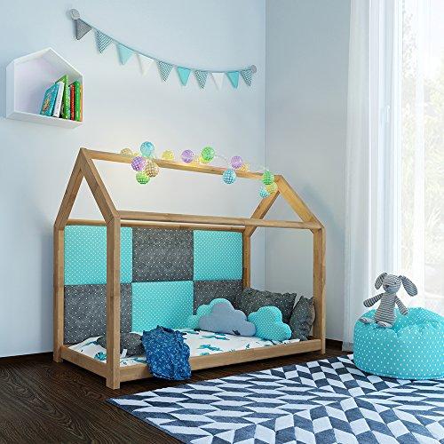 Kinderbett haus  🐻 Kinderbett Kinderhaus Bett Kinder Holz Haus Schlafen Spielbett ...