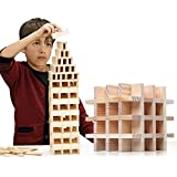 NEOWOWS 200 Pieces Building Blocks Wooden Construction Toys For Kids 3 Years Old And Up
