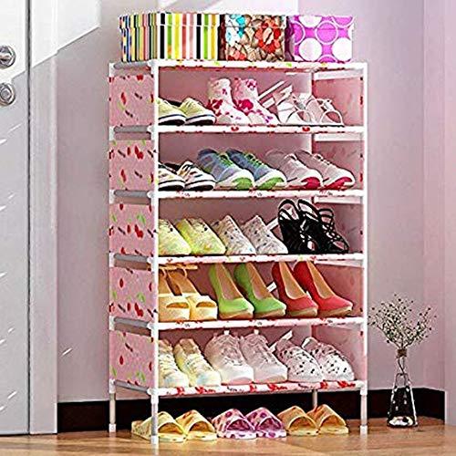 ACEKTY 7 Ebenen Schuhschrank Regalsystem mit Tür Schuhregal Schuhablage Schuhständer...