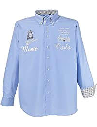 Chemise manche longue grande taille pour homme (7XL, Bleu Clair)