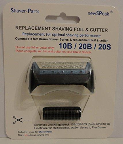 Alternative au rasoir électrique Braun et lame de coupe (lame) de remplacement 10B / 20B / 20S.