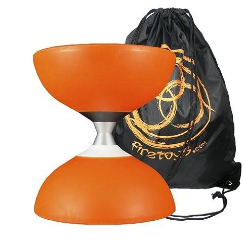 Orange Mr Babache Finesse G4 Diabolo w/ Evolution 2 Bearing Axle & FT Bag (NO STICKS)