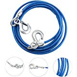 Generic 5Tons 4M Car Vehicle Boat Steel Wire Tow Rope Towing Pull Strap Rope with Hook Heavy Duty Car Tow Cable