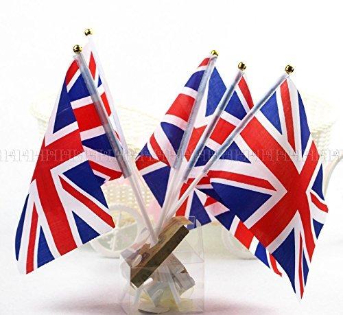 50pcs Union Jack Hand Waving Flag Royal Jubilee UK GB Great Britain Flags
