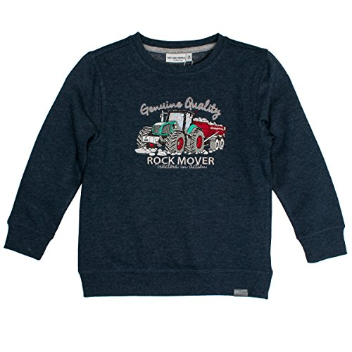 SALT AND PEPPER Jungen Sweat Power Uni Rock Mover Sweatshirt, Blau (Dark Blue Melange 492), 116 -