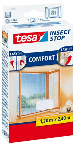 tesa-55918-insect-stop-mosquito-fly-and-insect-screen-inward-opening-windows-12m-x-24m-white