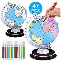 Ocamo World Globe Planet Model Montado Juguetes educativos para niños Juguetes para niños Rompecabezas
