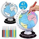 XuBa 3D Puzzle Weltkugel Modell Montiert Lernspielzeug für Kinder Spielzeug