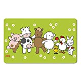 Emsa 509712 Brettchen für Kinder, Farmmotiv, 23.5 x 14.5 cm, Grün/Bunt, Farm Family