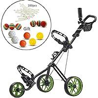CaddyTek Superlite Deluxe Golf-cart-black mit Kugeln und 100Tees in Set