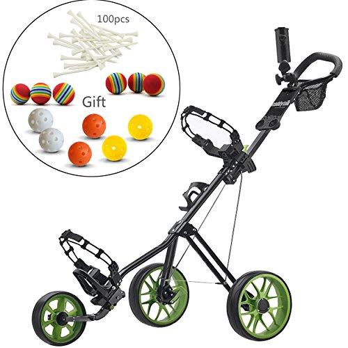Caddytek chariot de golf pousse 3 roues Superlite Deluxe...
