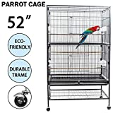 Dawoo Outdoor Courtyard 52-inch Bird Cage Black