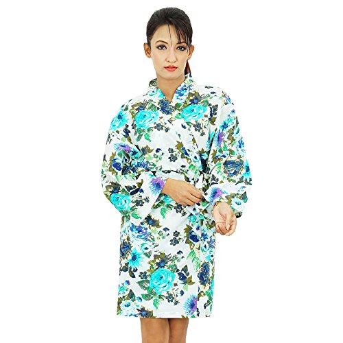 Les femmes portent Obtenir court Coton Robe demoiselle honneur Spa Prêt Robe Blanc