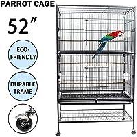 Dawoo Outdoor Courtyard 52-inch Bird Cage Black