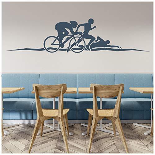 Zoom IMG-3 azutura triathlon adesivo murale esegui