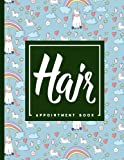 Hair Appointment Book: 7 Columns Appointment Journal, Appointment Scheduler Calendar, Daily Planner Appointment Book, Cute Unicorns Cover