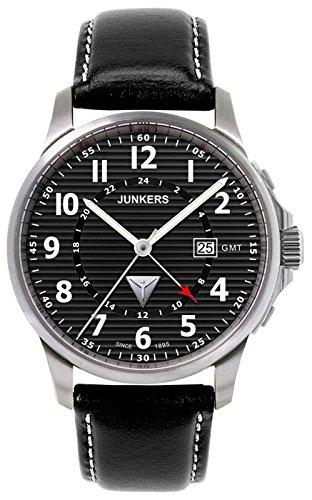 Junkers Herren-Armbanduhr XL Chronograph Quarz Leder 6848-2