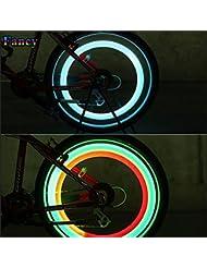 2X Luz LED Rueda Bici Bicicleta Ciclismo MultiColor 3 Modos Flash