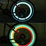 2X Luz LED Rueda Bici Bicicleta Ciclismo MultiColor 3 Modos Flash