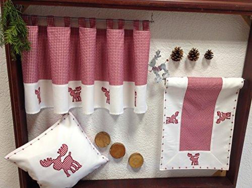 Heimtexland Navidad diseño Cuadros Rojo Blanco Biberon