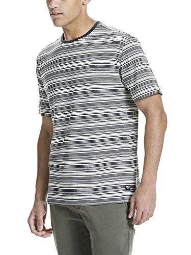 Bench Herren T-Shirt Yd Stripe Tee Mehrfarbig (Black BK022)