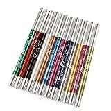 Ming 12Pcs Set de Crayon yeux Khôl waterproof Tient Multicolore...