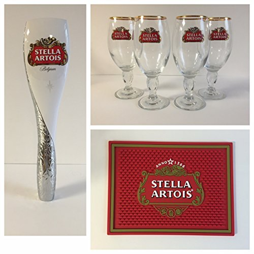 stella-artois-draft-combo-4-33cl-glasses-1-tap-handle-1-bar-mat-by-stella-artois