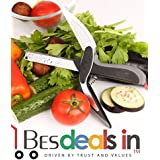 Dexterous Cutter 2 In 1 Kitchen Knife And Chopping To Replace All Your For Vegetables Fruits Meat And Cheese Kitchen Tools