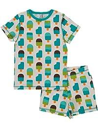 Maxomorra Short Sleeve Pyjama Set - Eisweiß