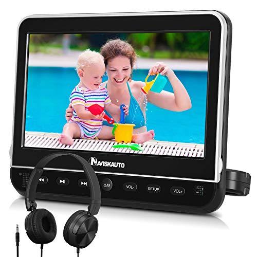 "NAVISKAUTO 10,1\"" DVD Player für Auto Tragbarer DVD Player 1080P HD Bildschirm Kopfstütze Monitor Memory HDMI SD USB mit Kopfhörer / AC Adapter / AV Kabel"