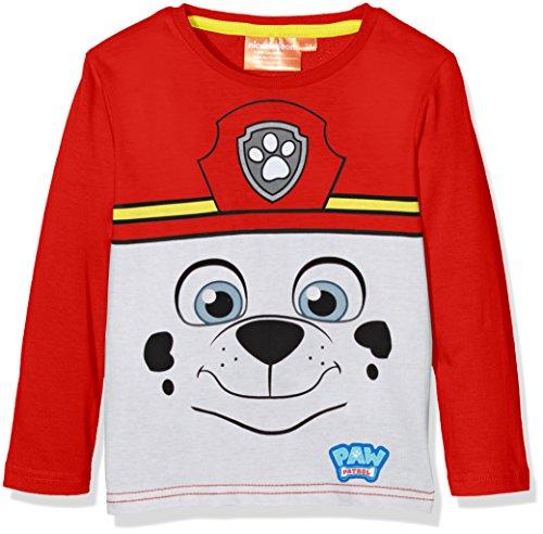 Nickelodeon paw patrol marshall, t-shirt bambino, rosso (amarante), 4 anni