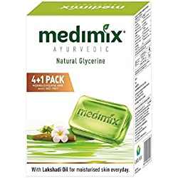 Medimix Ayurvedic Glycerine Soap, 125g (4+1 Offer Pack)