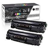 GPC Image Kompatibel Toner Patronen für HP CE285A 85A Druckerpatronen für HP Laserjet Pro P1100 P1102 P1102W P1106 M1132 M1132MFP M1212 M1212NF M1217NFW Laser Drucker-2 Schwarz, 1.600 Seiten pro Toner